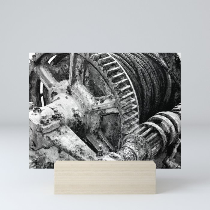 Rusty machinery Mini Art Print
