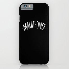 Marathoner Runner Running iPhone Case