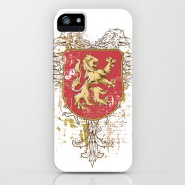 Coat of Arms Shield - Griffin Seal - Crown Lion and the Mark iPhone Case