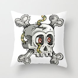 Paul the Skull Throw Pillow