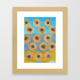 Circles in Front of a Beach Framed Art Print