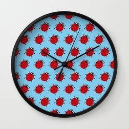 Ladybug Pattern_E Wall Clock