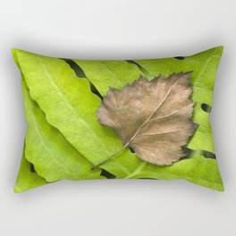 Old and New Leaf Abstract Art Rectangular Pillow