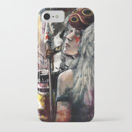 Mononoke San and The Spirit of the Wolf iPhone Case