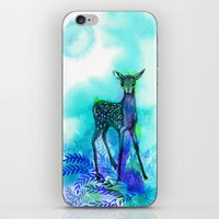 bambi iPhone & iPod Skins featuring bambi by anneamanda
