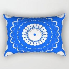 Greek Blue & White Mosaic Rectangular Pillow