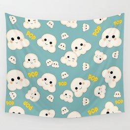 Cute Kawaii Popcorn pattern Wall Tapestry