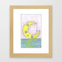 Mauve Moon Framed Art Print