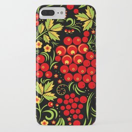 Red berry ornament khokhloma iPhone Case