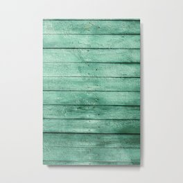 green wooden fence Metal Print