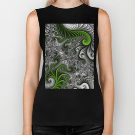 Fantasy World, abstract Fractal Art Biker Tank