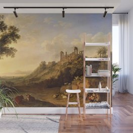 Roman Temple Ruins in Sicily by Jakob Philipp Hackert Wall Mural