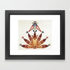 Fox with 7 tails Framed Art Print