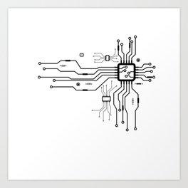 CPU Heart Art Print