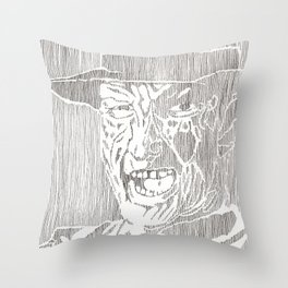 Freddy Krueger by Aaron Bir Throw Pillow