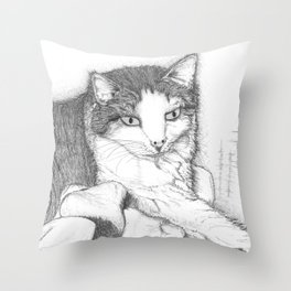 House Cat Throw Pillow