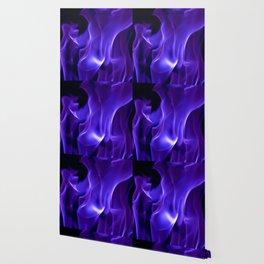 Ultra Violet Flames Wallpaper