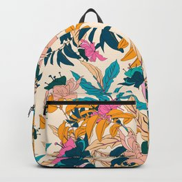 Colorful botanical garden Backpack