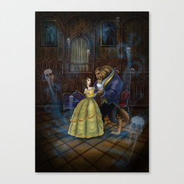 Haunted Beauty and the Beast by Topher Adam 2017 Canvas Print