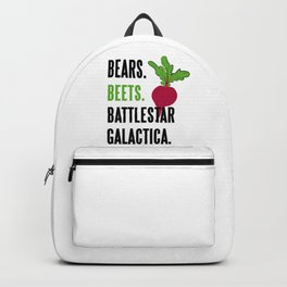 BEARS, BEETS, BATTLESTAR, GALACTICA Backpack