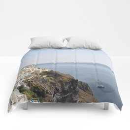 Summer in the riviera IV Comforters
