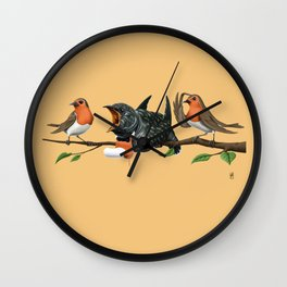 Cock Robin (Colour) Wall Clock