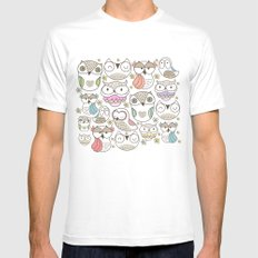 The owling White Mens Fitted Tee MEDIUM