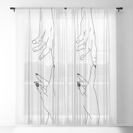 Hands - magic touch Sheer Curtain