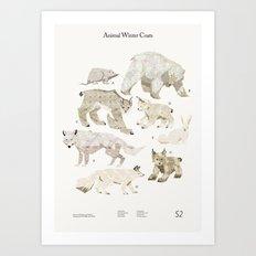 Shelter 2 - Animal Winter Coats Art Print