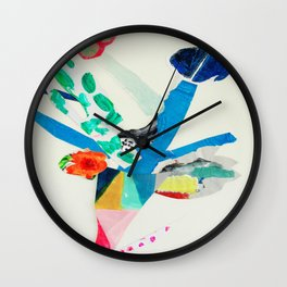 Leaping Blooms Wall Clock