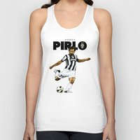 pirlo Tank Tops featuring Andrea Pirlo by Rudi Gundersen