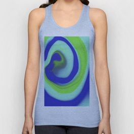 Green blue abstract pattern Unisex Tank Top