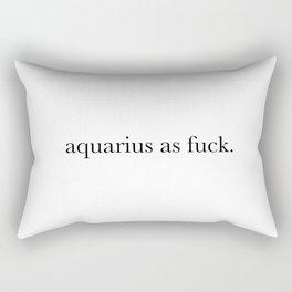 aquarius as fuck Rectangular Pillow