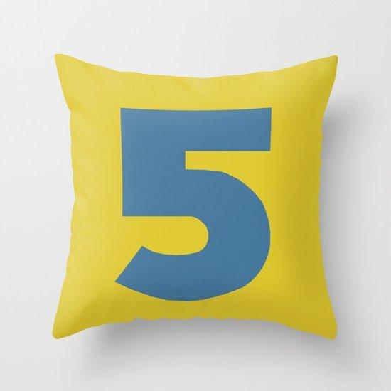 Number 5 Throw Pillow