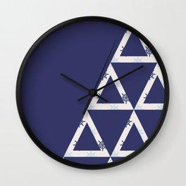 Seaside Pyramids Wall Clock