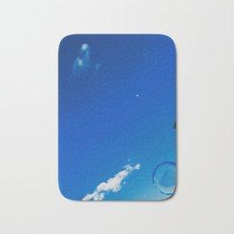 Soap Bubble and Moon Photography Bath Mat