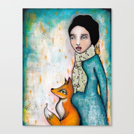 Foxy by Tamara Laporte - Canvas Art Print on Society6