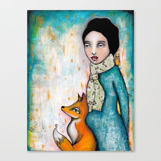 Foxy by Tamara Laporte - Canvas Art Print on Society6