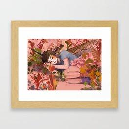 flowery flyboy Framed Art Print