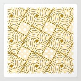 Butterscotch Doodles Art Print