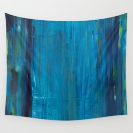 blue vertical Wall Tapestry