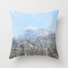 Snow-capped Mountains Throw Pillow