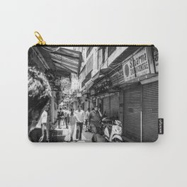 People walking in a street in Old Delhi, India Carry-All Pouch