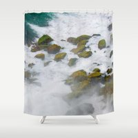 rush Shower Curtains featuring Rush by Adrienne Page