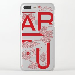 Something to Say - Red Clear iPhone Case