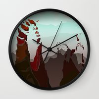 occult Wall Clocks featuring Occult Summit by Sean Thomas McDowell