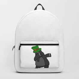 Dabbing St Patrick_s Day Tapir Leprechaun Backpack