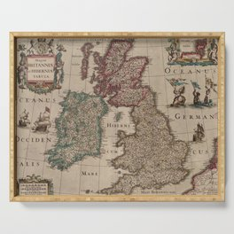 Vintage Map of The British Isles (1617) Serving Tray