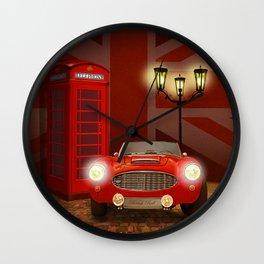 British RED Wall Clock