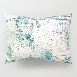 Subtle Blue Textured Acrylic Painting Pillow Sham